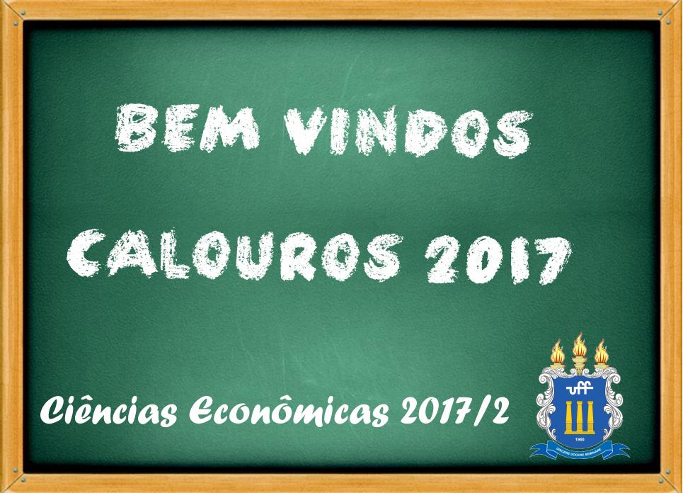 Bem vindos calouros de Ciências Econômicas 2017/2