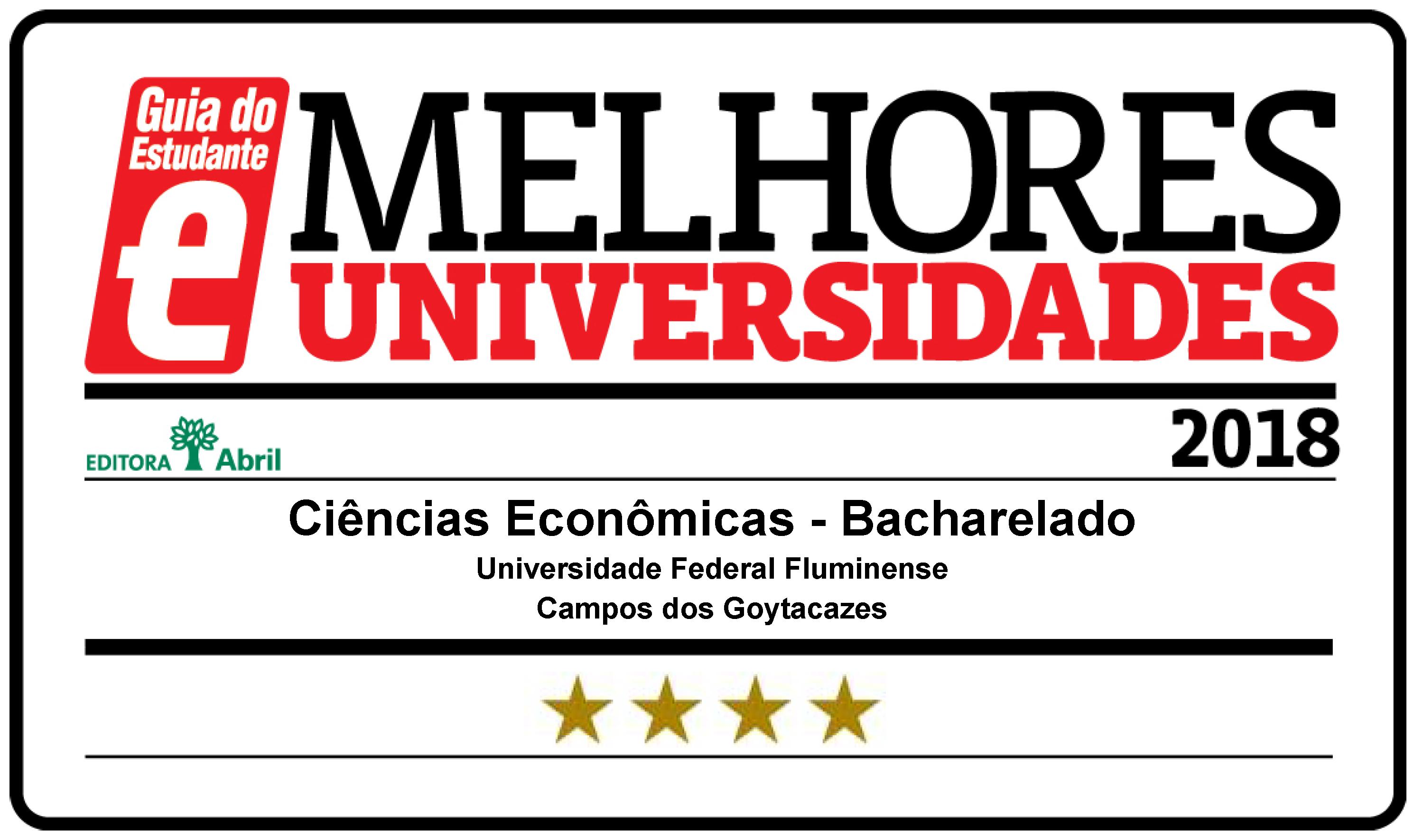 Ciências Econômicas recebe 4 estrelas no Guia do Estudante